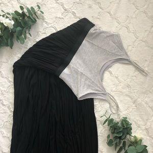 Black & Gray LC Maxi Dress